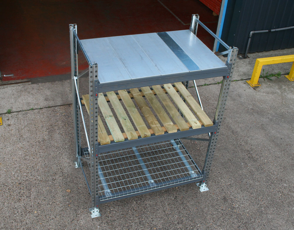 Pallet Racking – Starter Bay 4000mm High x 1100mm Deep (External)